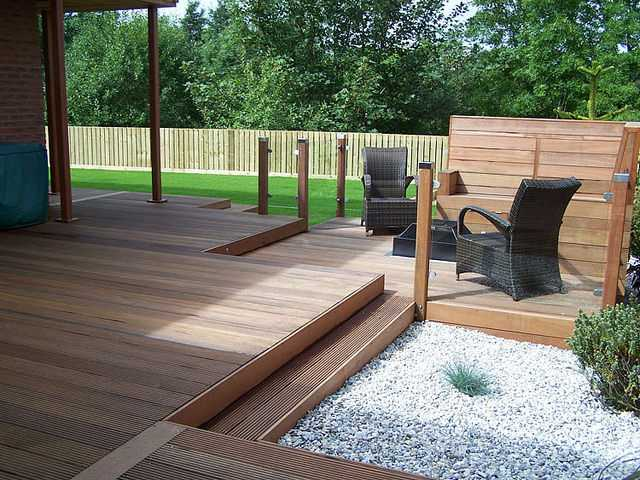 Glass Balustrade With Timber Posts