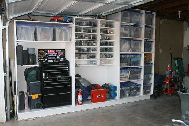 how to build strong shelves for garage