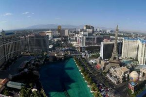 View of the Las Vegas strip from our suite at the Cosmopolitan Hotel
