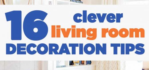 16 Clever Living Room Decoration Tips