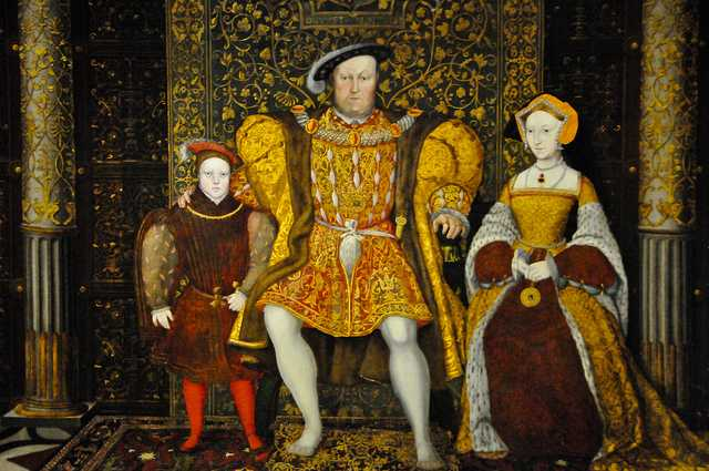 King Henry VIII Portrait at Hampton Court Royal Palace - Greater London England